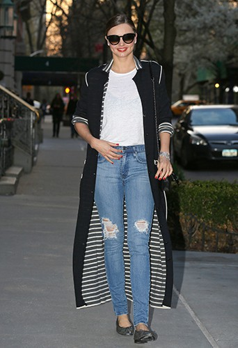 Miranda Kerr à New York le 19 avril 2014