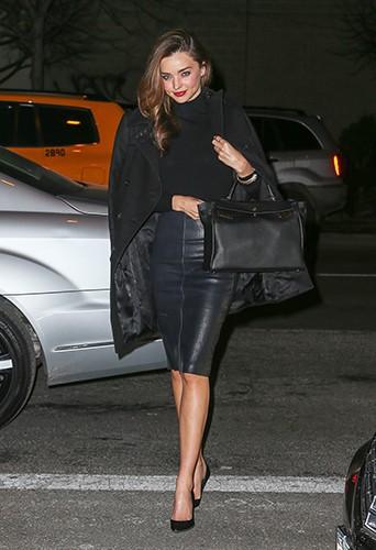 Miranda Kerr à New-York le 31 janvier 2014