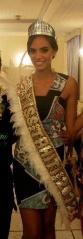 Hinanari, une belle Miss Tahiti
