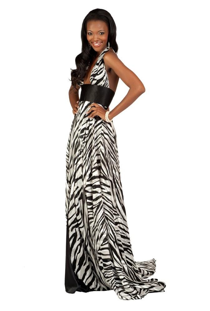 Miss Afrique du Sud en robe de soirée