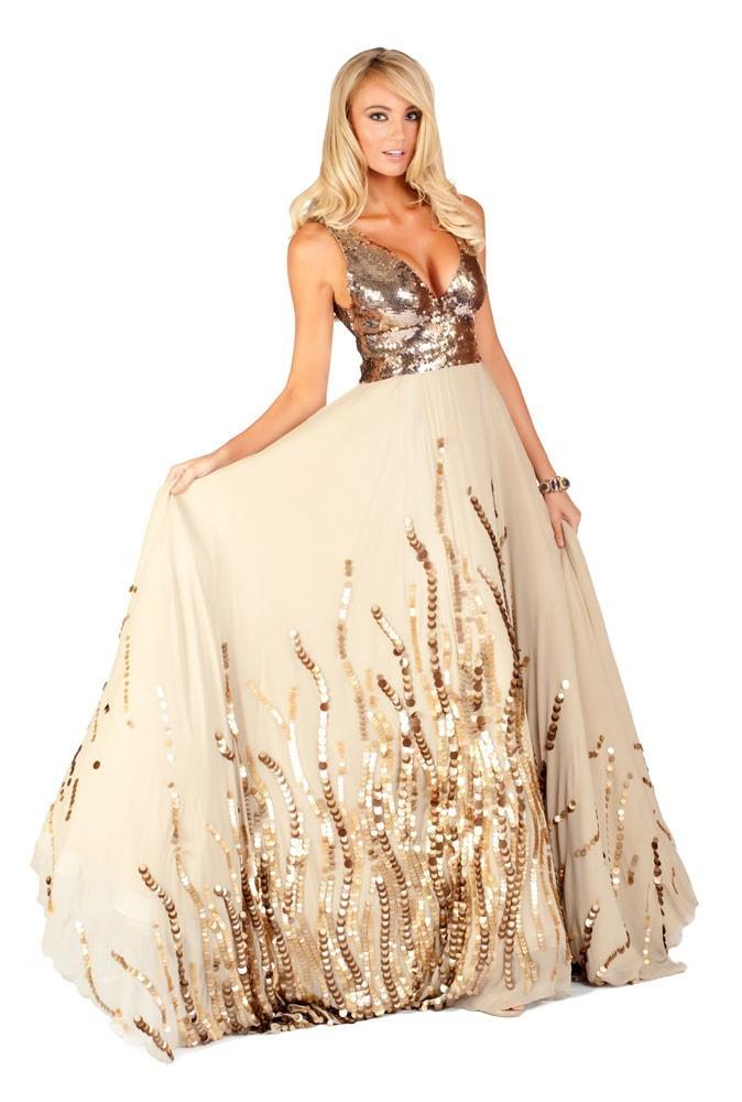 Miss Pays-Bas en robe de soirée