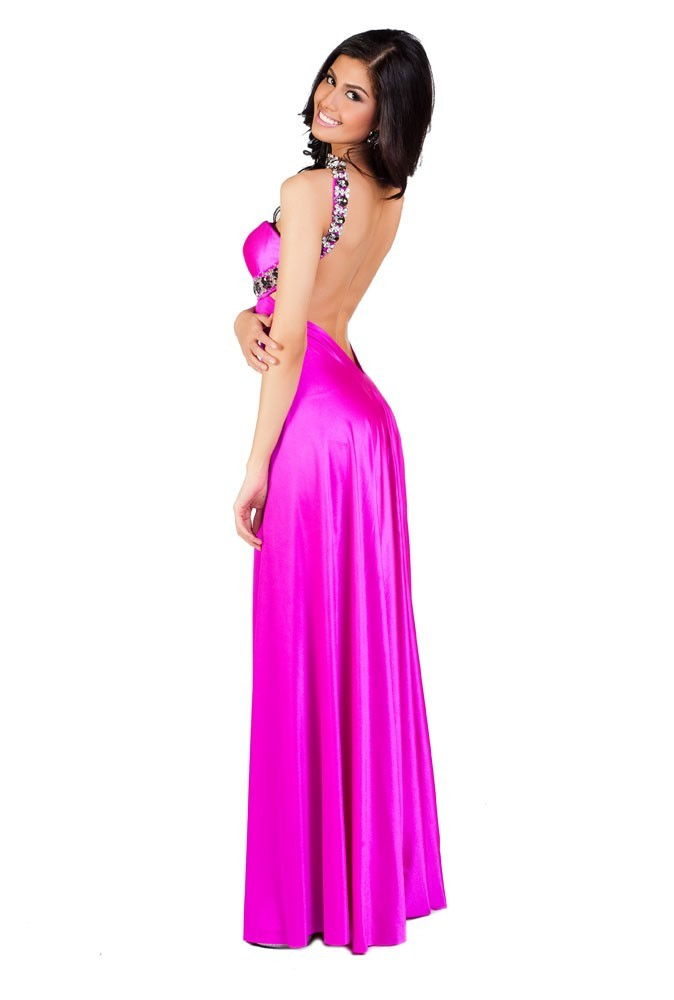 Miss Philippines en robe de soirée