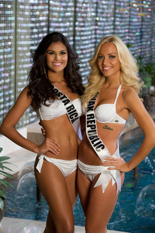 Miss Costa Rica et Miss Slovaquie
