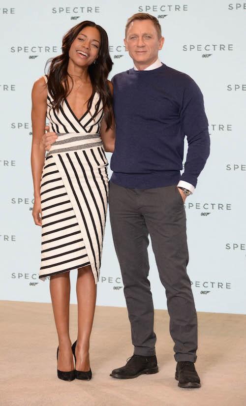 Naomie Harris et Daniel Craig lors du photocall de Spectre, le nouveau James Bond, le 4 décembre 2014 !