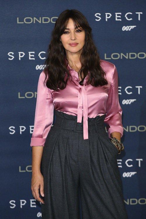 Monica Bellucci à Londres pour Spectre, le 22 octobre 2015