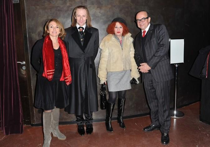 Morgan et sa maman Pascale de Qui veut épouser mon fils? à l'avant-première de Moi, Luka Magnotta à Paris le 5 décembre 2012