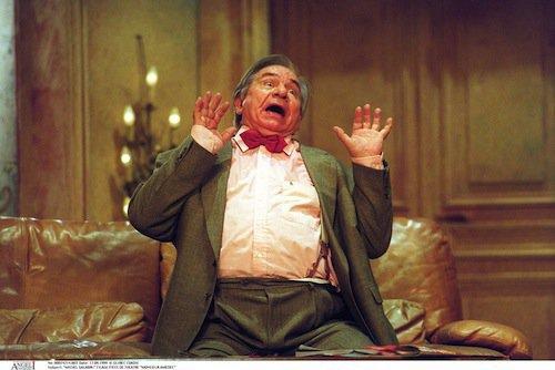 Michel Galabru dans la pièce Monsieur Amédée en 1999