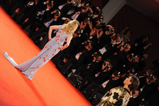 Madonna lors de la première de son film W.E durant la Mostra de Venise, le 1er septembre 2011.