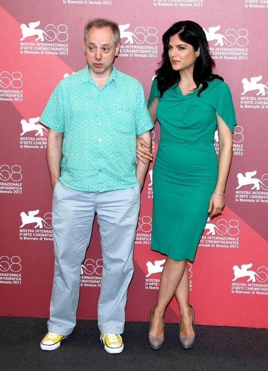 Selma Blair et Todd Solondz lors de la présentation du film Dark Horse, durant la Mostra de Venise, le 5 septembre 2011.