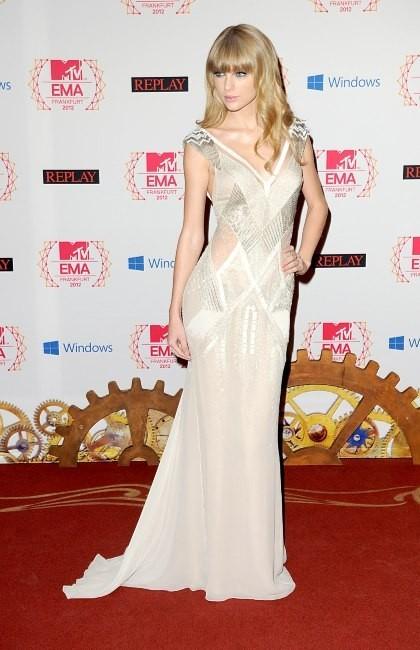 Taylor Swift lors des MTV Europe Music Awards à Francfort, le 11 novembre 2012.