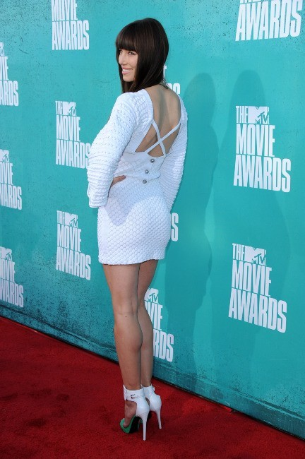 Jessica Biel lors des MTV Movie Awards 2012 à Universal City, le 3 juin 2012.