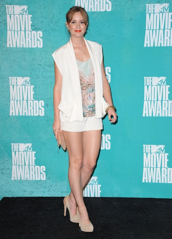 Leigthon Meester aux MTV Movie Awards 2012