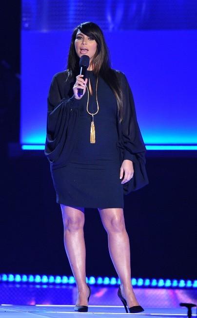 Kim Kardashian sur la scène des MTV Movie Awards 2013 à Los Angeles, le 14 avril 2013.