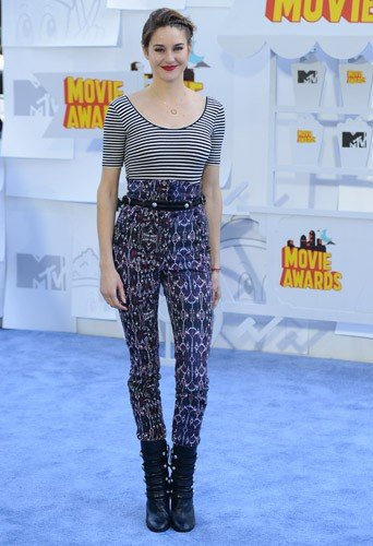 Shailene Woodley lors des MTV Movie Awrds 2015 à Los Angeles, le 12 avril 2015