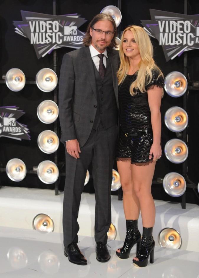 Britney Spears et Jason Trawick lors des MTV VMA's 2011 à Los Angeles, le 28 août 2011.