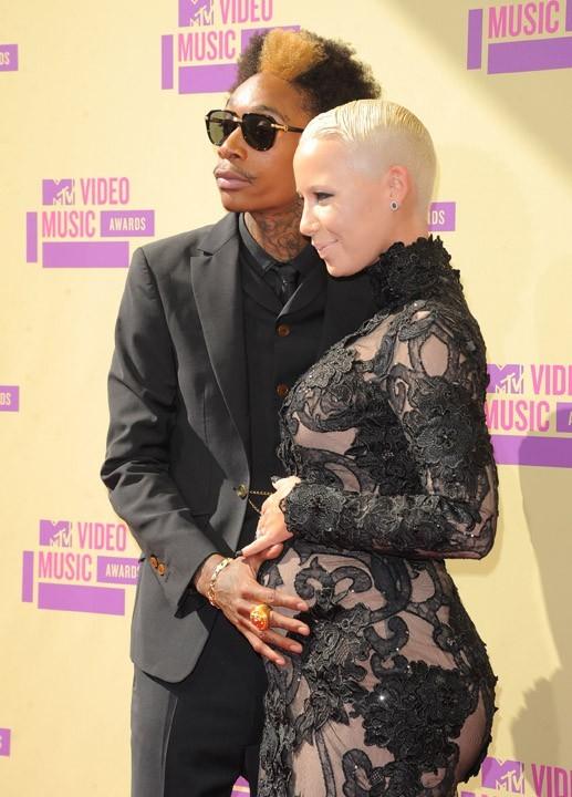 Wiz Khalifa et Amber Rose aux MTV Video Music Awards le 6 septembre 2012