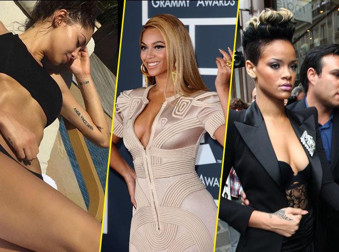 Photos : Nabilla, Beyoncé, Rihanna : 35 stars tatouées par amour !