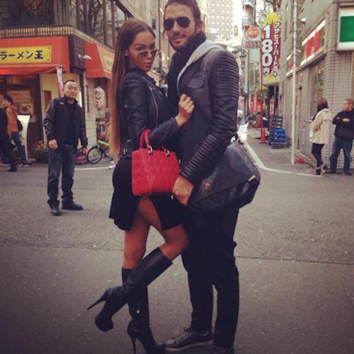 Nabilla et Thomas au Japon, en novembre 2013