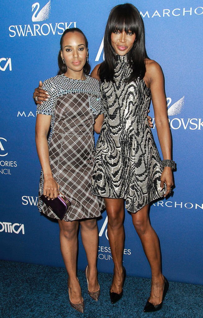 Naomi Campbell et Kerry Washington le 3 novembre 2014