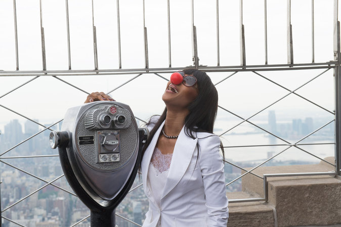 Naomi Campbell à l'Empire State Building