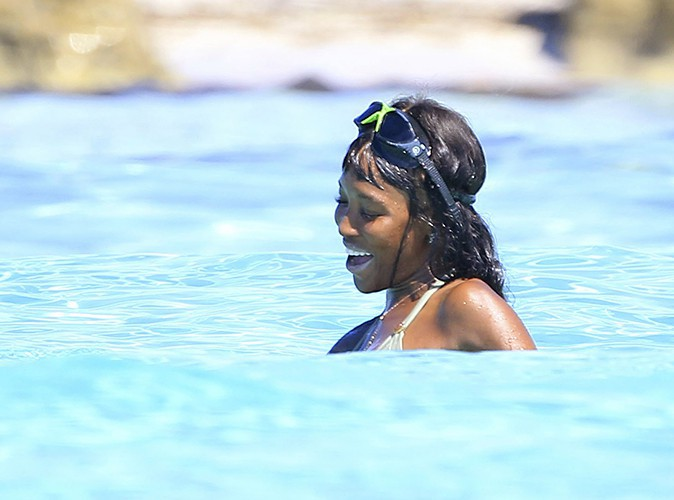 Naomi Campbell à Formentera le 11 août 2013
