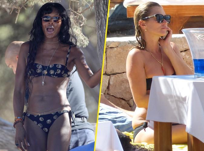 Naomi Campbell et Kate Moss : bikinis, farniente... et cellulite pour les retrouvailles des BFF à Ibiza !