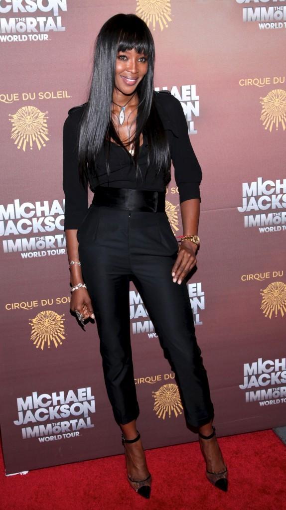 Naomi Campbell lors de la première du spectacle du Cirque du Soleil : Michael Jackson The Immortal World Tour à New York, le 3 avril 2012.