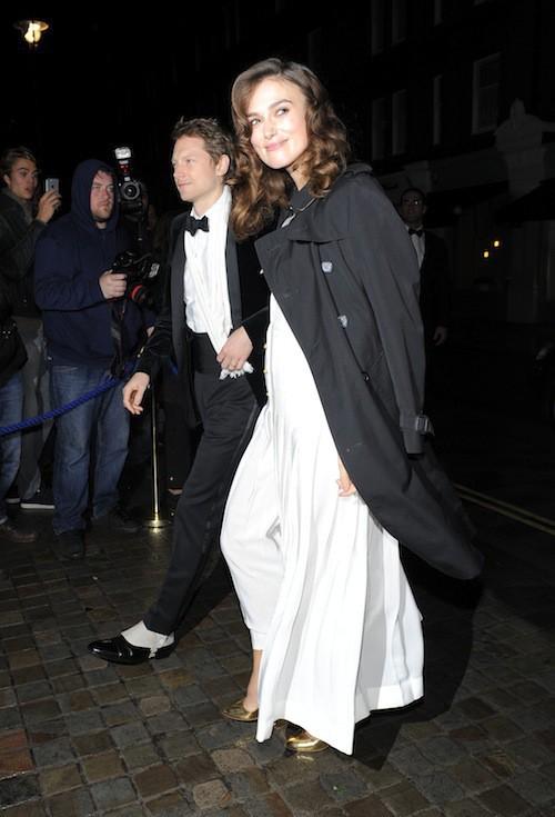 Keira Knightley à l'anniversaire de Mario Testino à Londres, le 29 octobre 2014