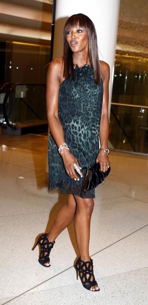 Naomi Campbell lors de la soirée NET-A-PORTER and D&G Party à Londres, le 14 juillet 2011.