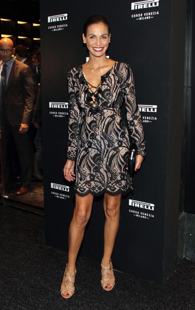 Inès Sastre lors de l'inauguration de la boutique Pirelli flagship à Milan, le 20 septembre 2011.