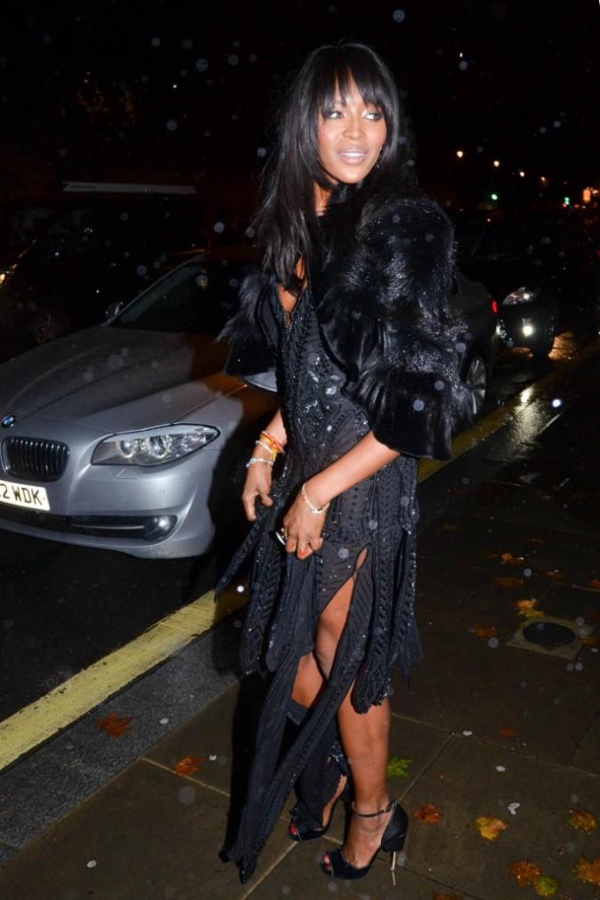 Naomi Campbell à Londres le 13 octobre 2014