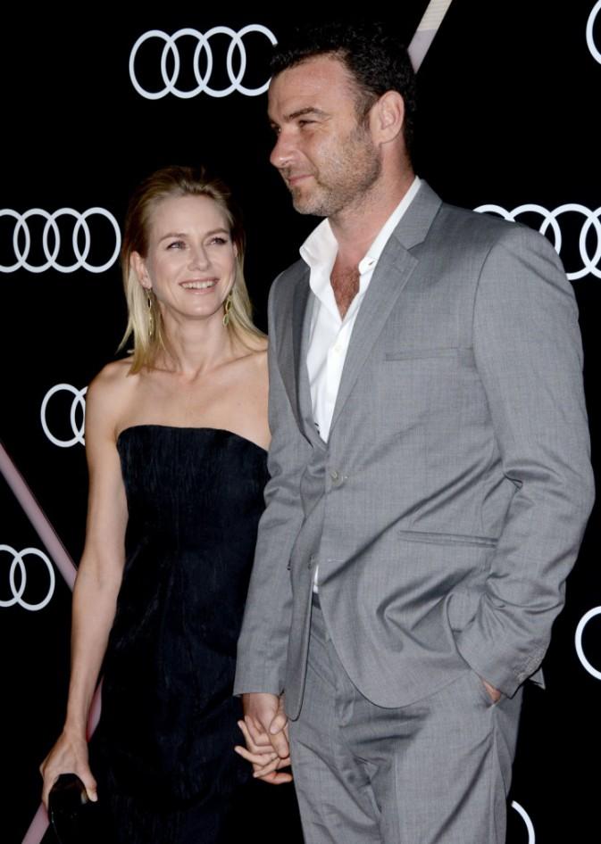 Naomi Watts et Liev Schreiber lors de la pre-Golden Globes party de la marque Audi à Los Angeles, le 9 janvier 2014.