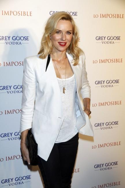 "Naomi Watts lors de l'after-party du film ""The Impossible"" à Madrid, le 8 octobre 2012."