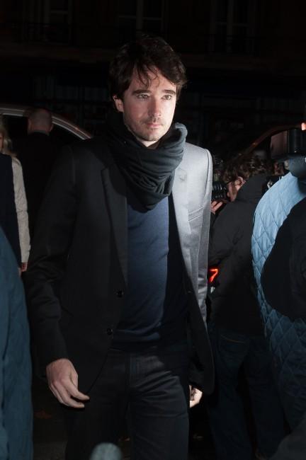 Antoine Arnault se rendant au défilé Givenchy à Paris, le 4 mars 2012.