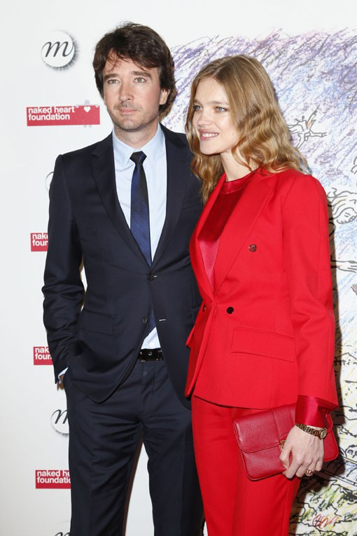 Natalia Vodianova et Antoine Arnault au gala de charité de la fondation Naked Heart à Paris le 13 mai 2014