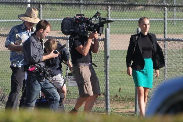 Natalie Portman en tournage à Austin, le 30 septembre 2012.