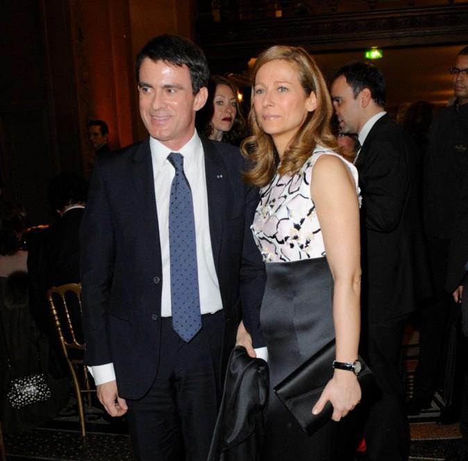 Manuel Valls et Anne Gravoin le 12 janvier 2015
