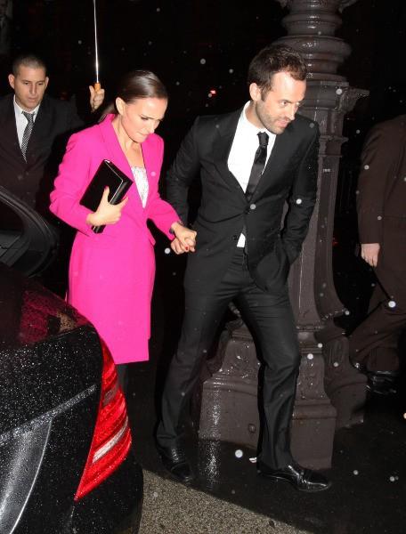 Natalie Portman et son mari Benjamin Millepied à Paris, le 12 novembre 2013.