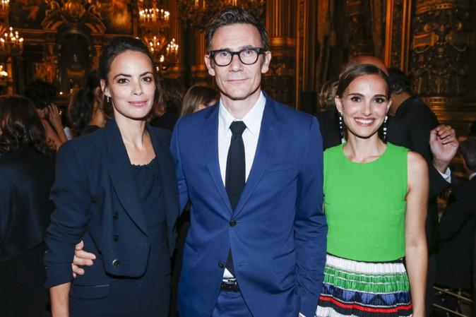 Bérénice Béjo, Michel Hazanavicius et Natalie Portman à Paris le 24 septembre 2015