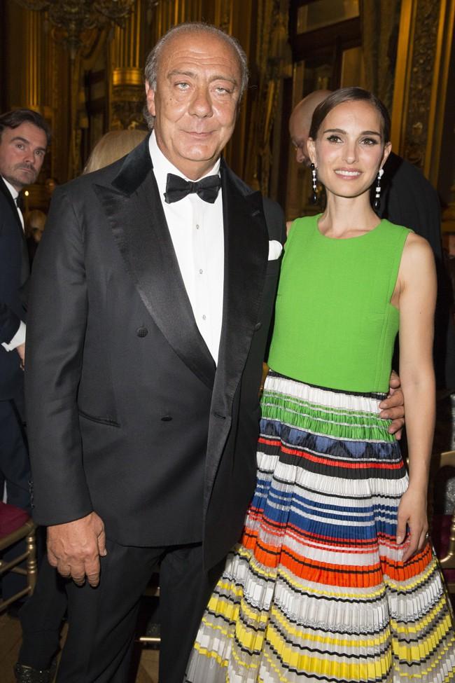 Mr Gruosi et Natalie Portman à Paris le 24 septembre 2015