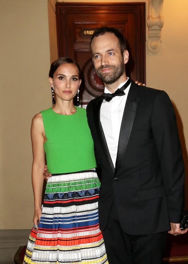 Natalie Portman et Benjamin Millepied à Paris le 24 septembre 2015
