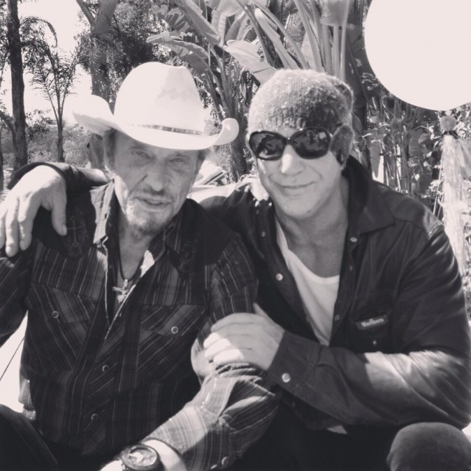"Johnny et ""son pote"" Mickey Rourke"