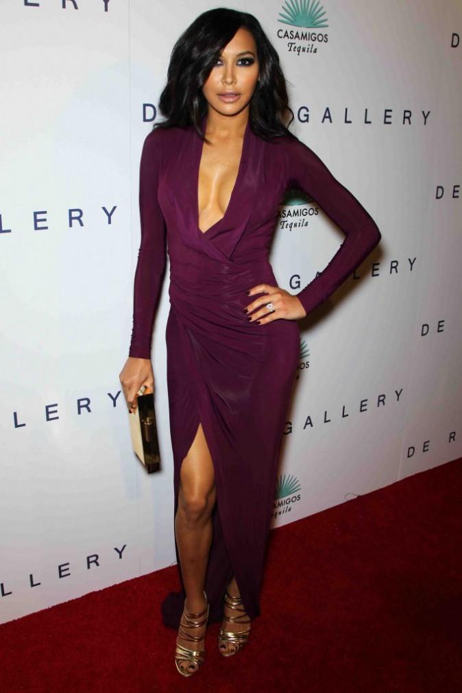Naya Rivera : entre son décolleté vertigineux et sa robe fendue, on ne sait plus où donner de la tête !