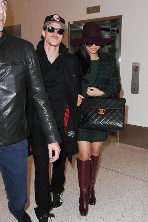 Naya Rivera et Ryan Dorsey à l'aéroport de LAX le 2 mars 2015