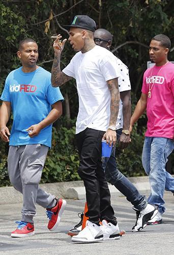 Chris Brown à Los Angeles le 2 août 2013
