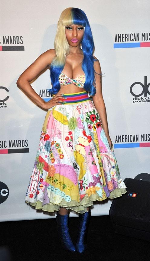 Nicki Minaj lors de la conférence de presse des American Music Awards à Los Angeles, le 11 octobre 2011.