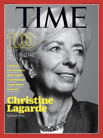 """Photos : Christine Lagarde parmi les personnalités les plus influentes du """"Time"""""""
