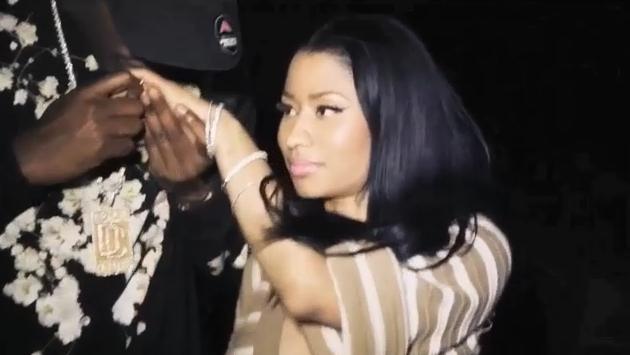 Nicki Minaj et Meek Mill dans le clip All Eyes on You