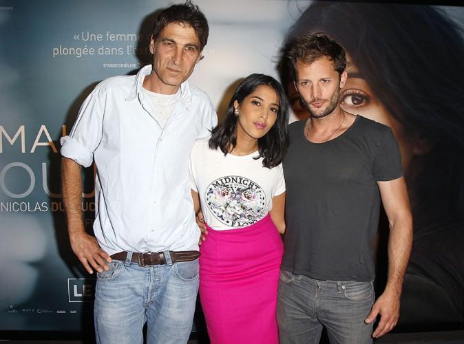 Serge Frydman, Leïla Bekhti et Nicolas Duvauchelle à Paris le 2 septembre 2014