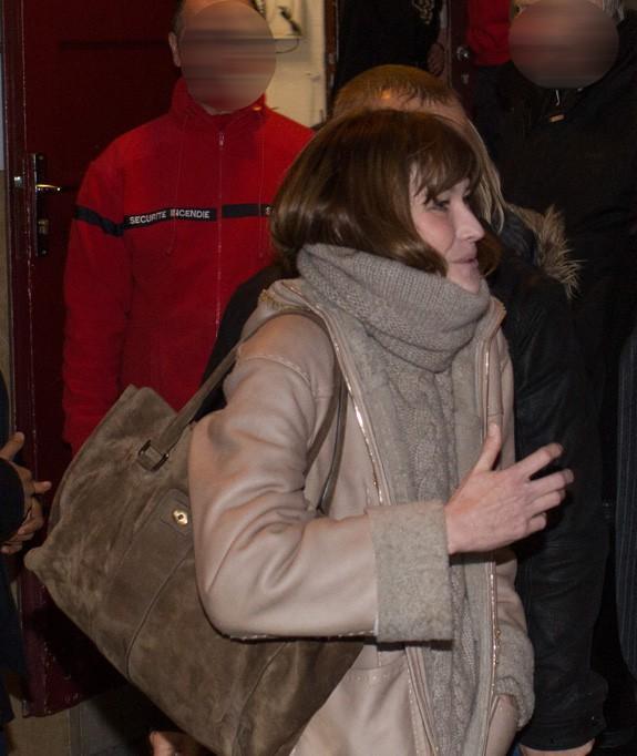 Carla Bruni-Sarkozy à Lyon le 23 janvier 2014